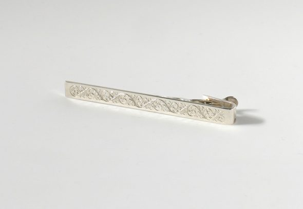 Engraved Tie Clip - Sterling Silver